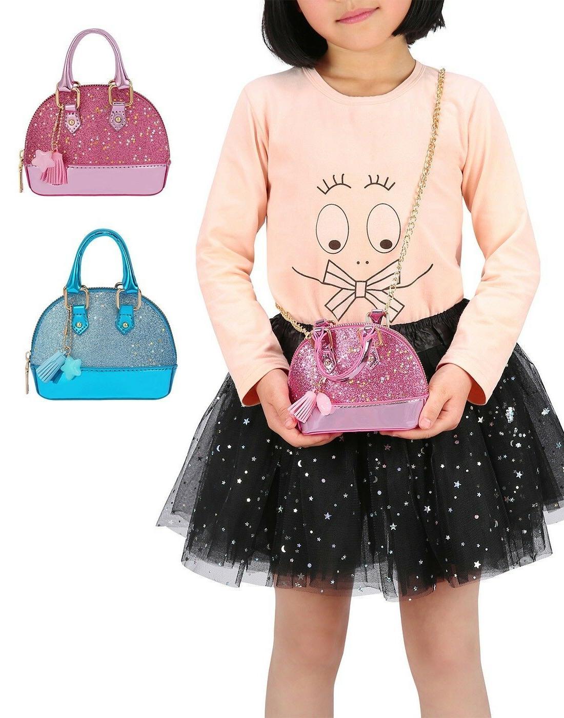 glitter purse princess small crossbody dome fashion