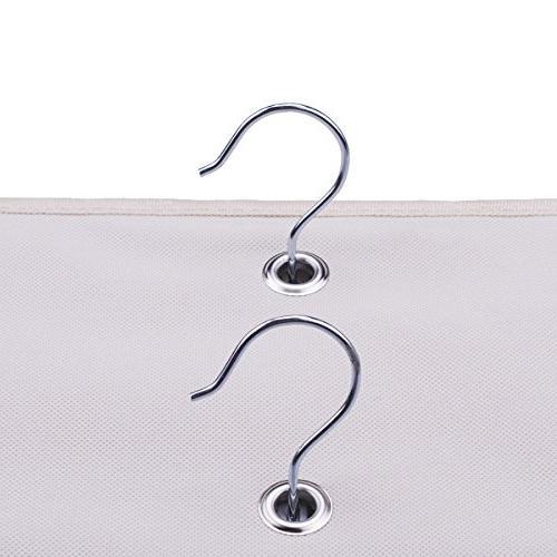 LONGTEAM Hanging Purse Organizer Homewares 10 Pockets Closet Bag