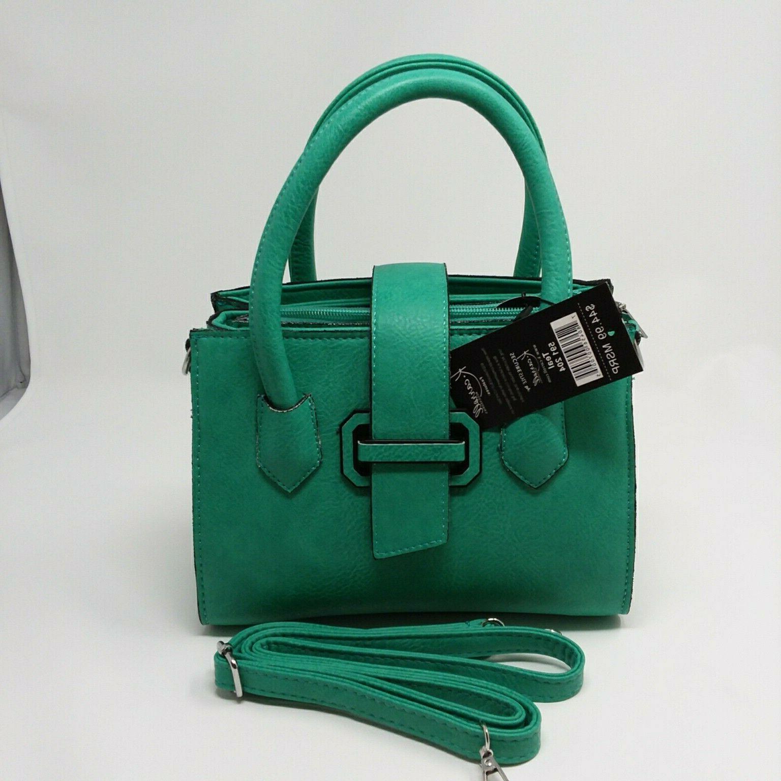 k carroll accessories audrey satchel purse teal