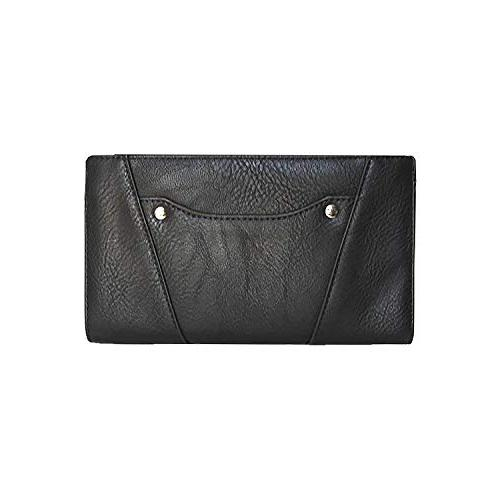 k marion black vegan leather