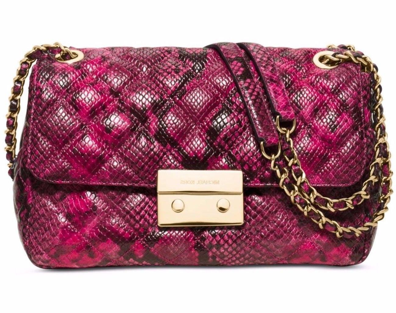 MICHAEL L Quilted Purse New