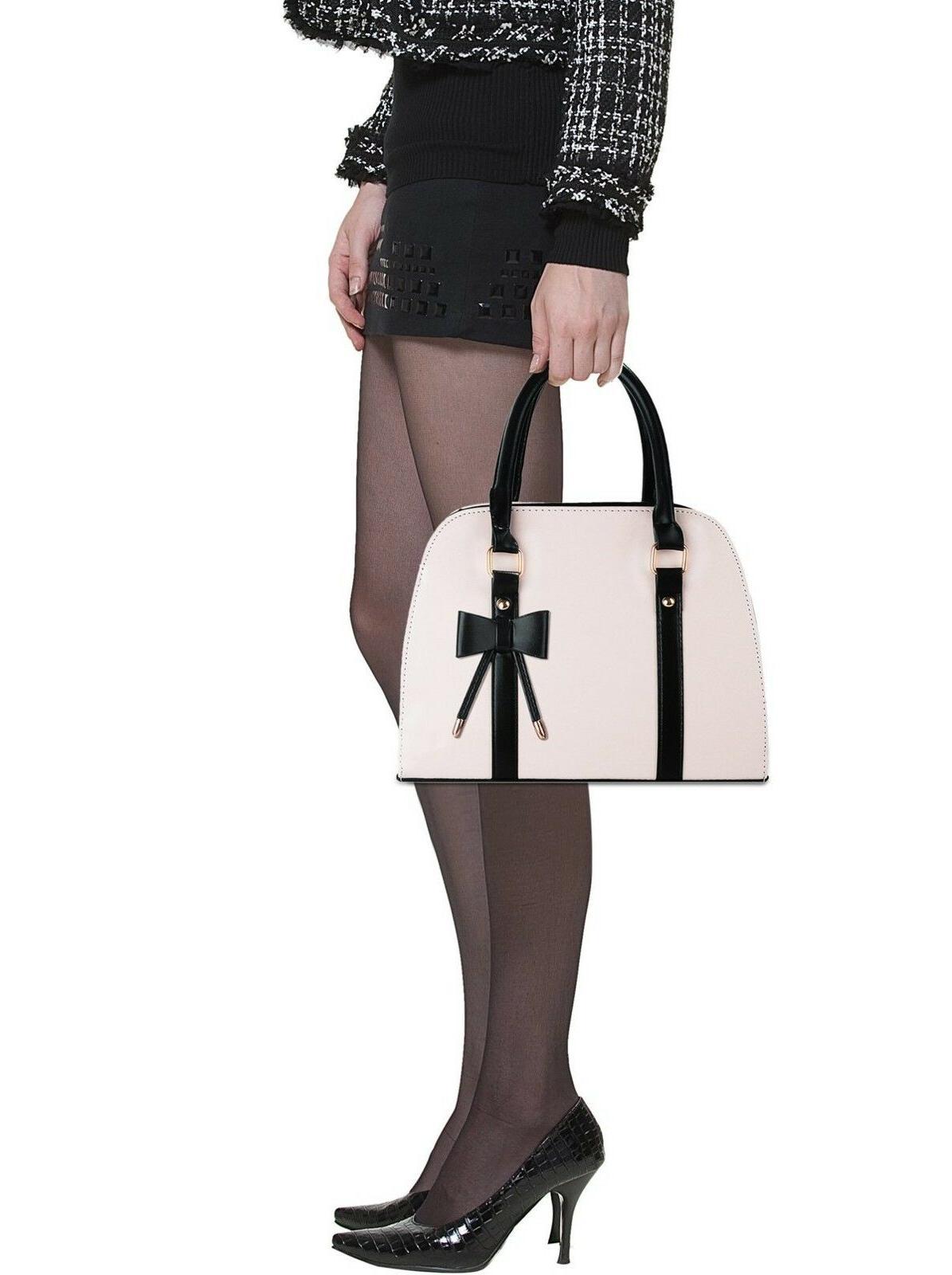 COOFIT Lady Handbag Little Bow Top-Handle Shoulder Bag H