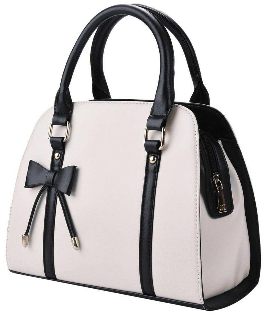 lady handbag little bow leisure top handle