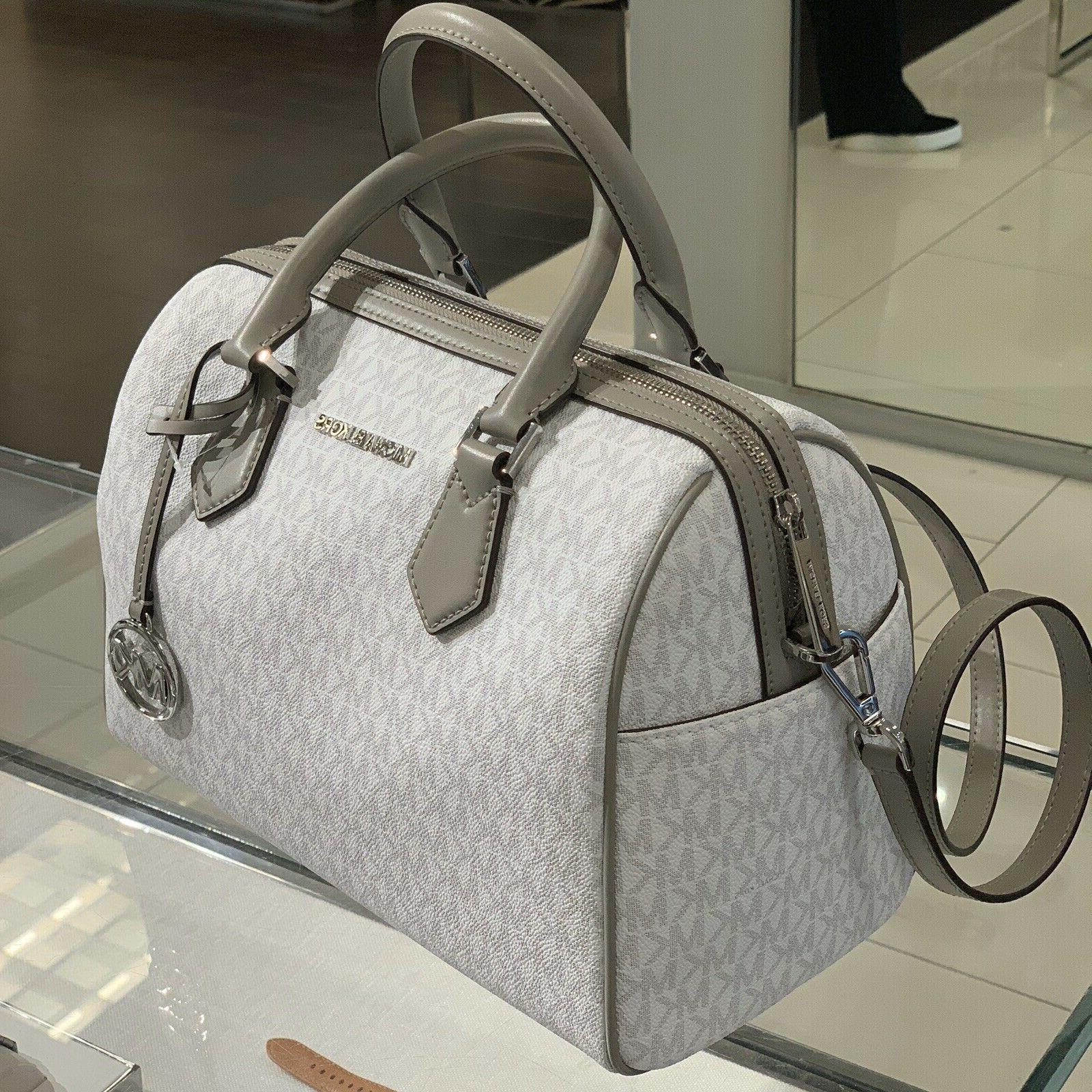 Michael Kors Large Leather Crossbody Satchel Handbag Bag Bri