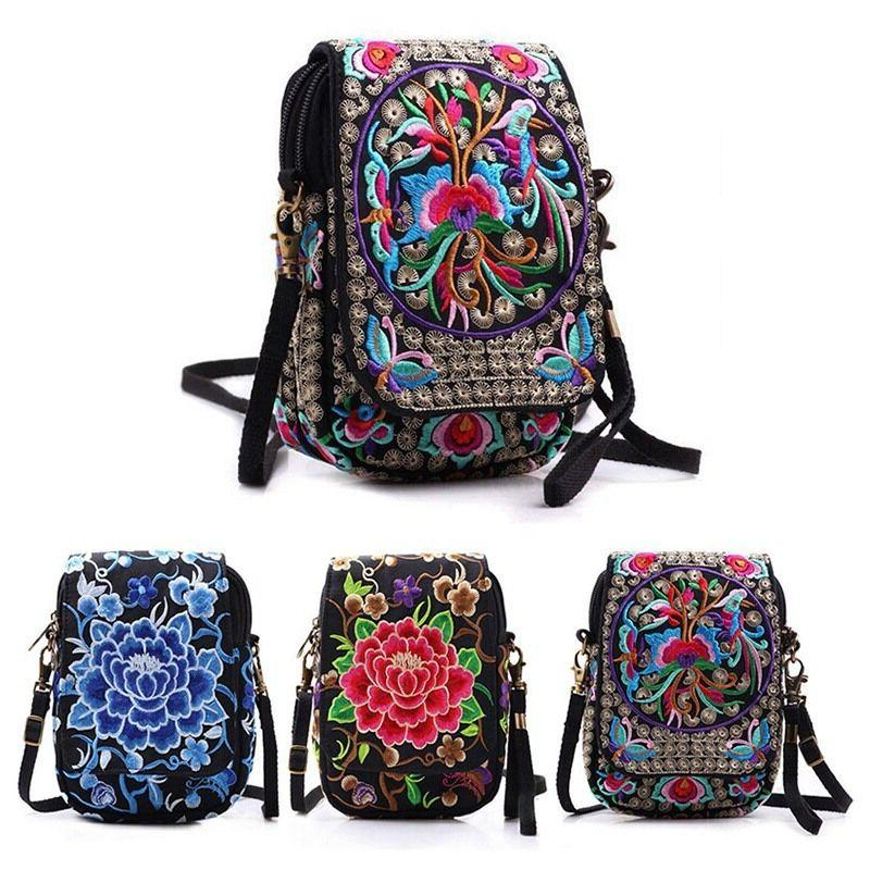 latest lady cell phone bag retro embroider
