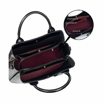 Genuine Leather Satchel and Women Shoulder Tote ...