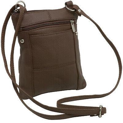 Leather Shoulder Purse Body Wallet