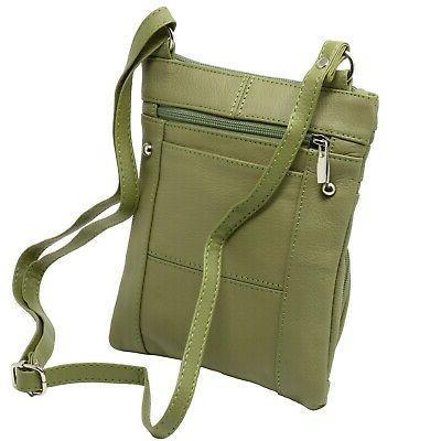 Leather Shoulder Bag Handbag Purse Cross Body Organizer Wallet Pockets