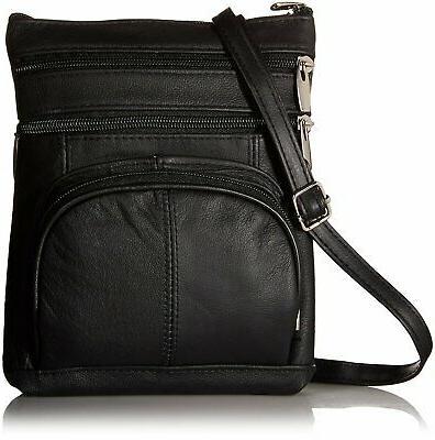 Leather Shoulder Handbag Purse Cross