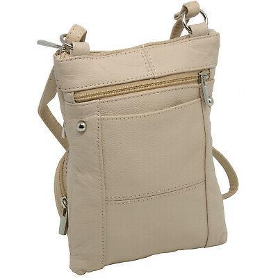 Leather Shoulder Purse Cross Body Wallet Pockets
