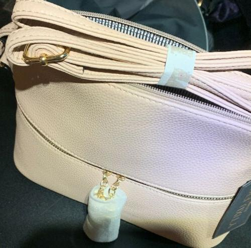 Deluxity Los Angeles Crossbody w/ Pebbled Leather/NWT