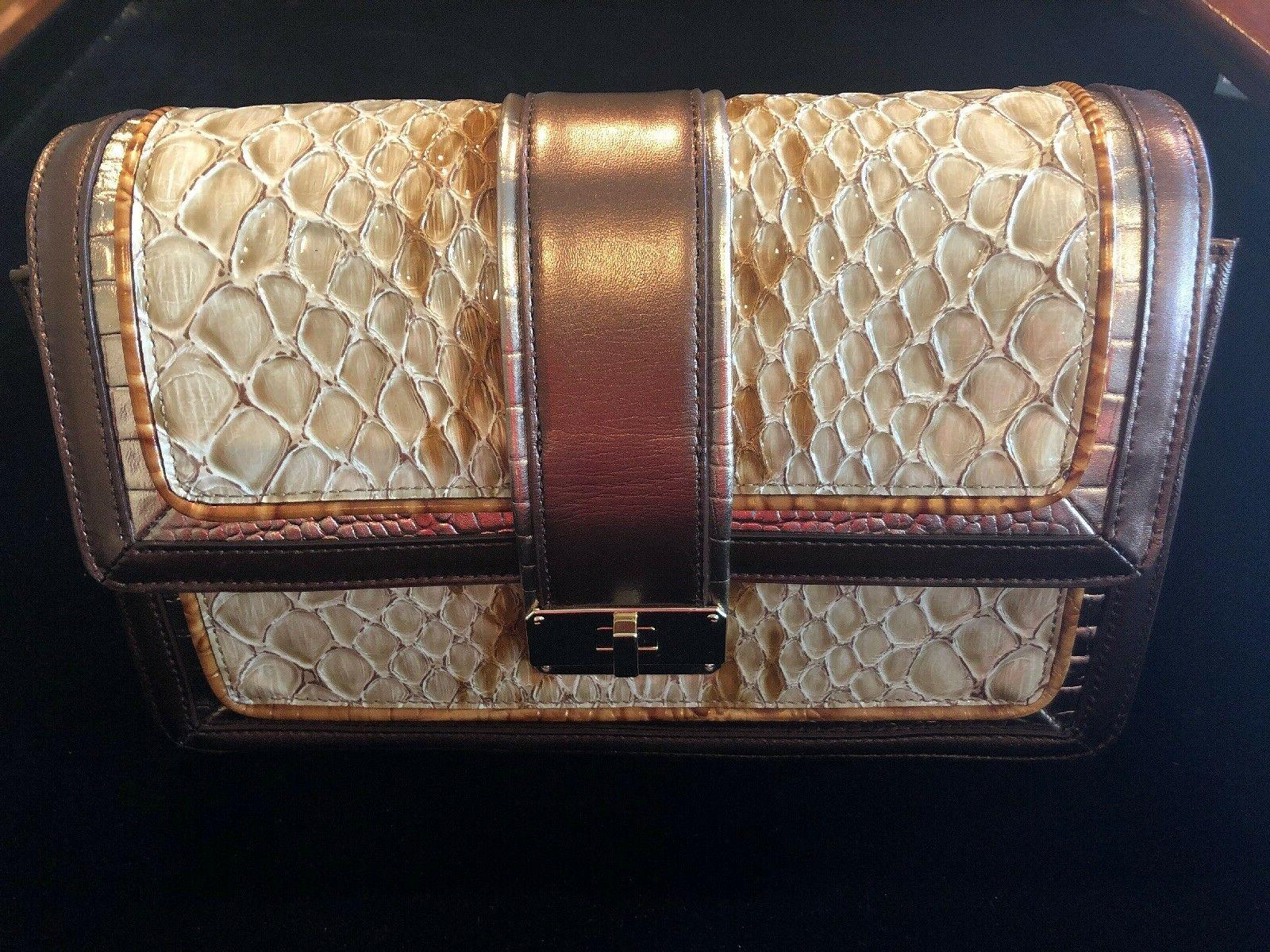 Brahmin Honey Carlisle Genuine Leather w/