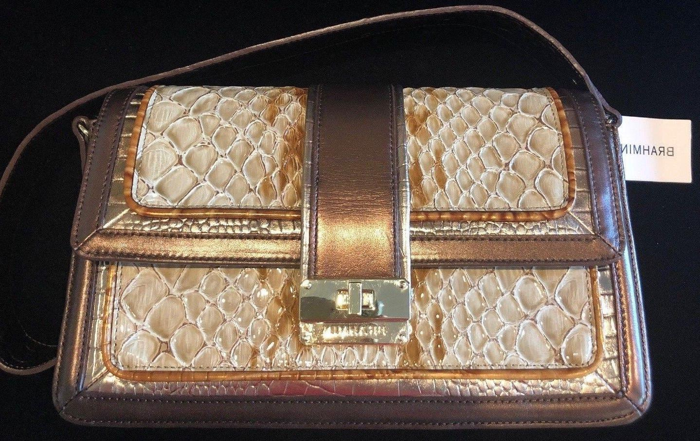maria honey carlisle genuine leather purse new