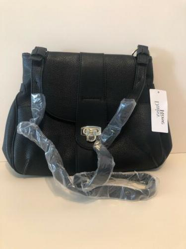medium leather black purse new