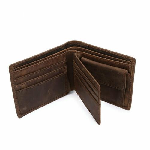 Men's Bifold Vintage Purse Card Holder