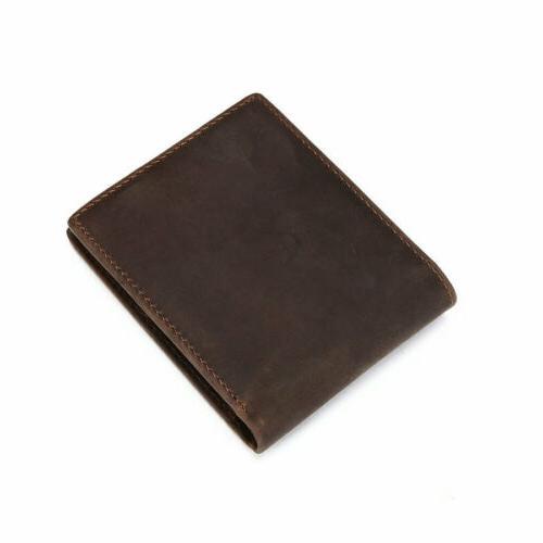 Men's Bifold Wallet Vintage Coin Card