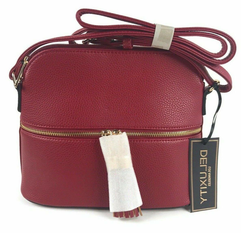 mkii womens bella tassel charm crossbody purse