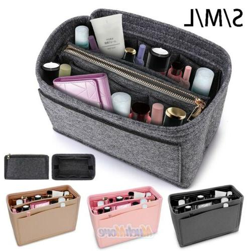 multi pocket handbag organizer felt purse insert