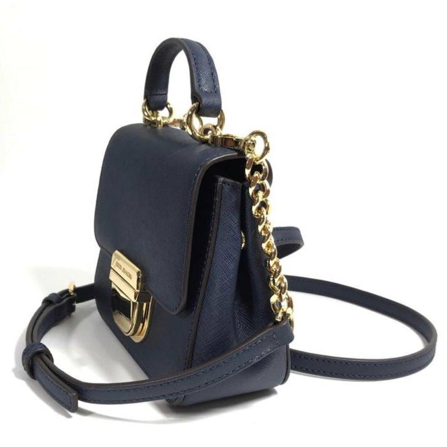 NEW $228 Bridgette Navy Leather