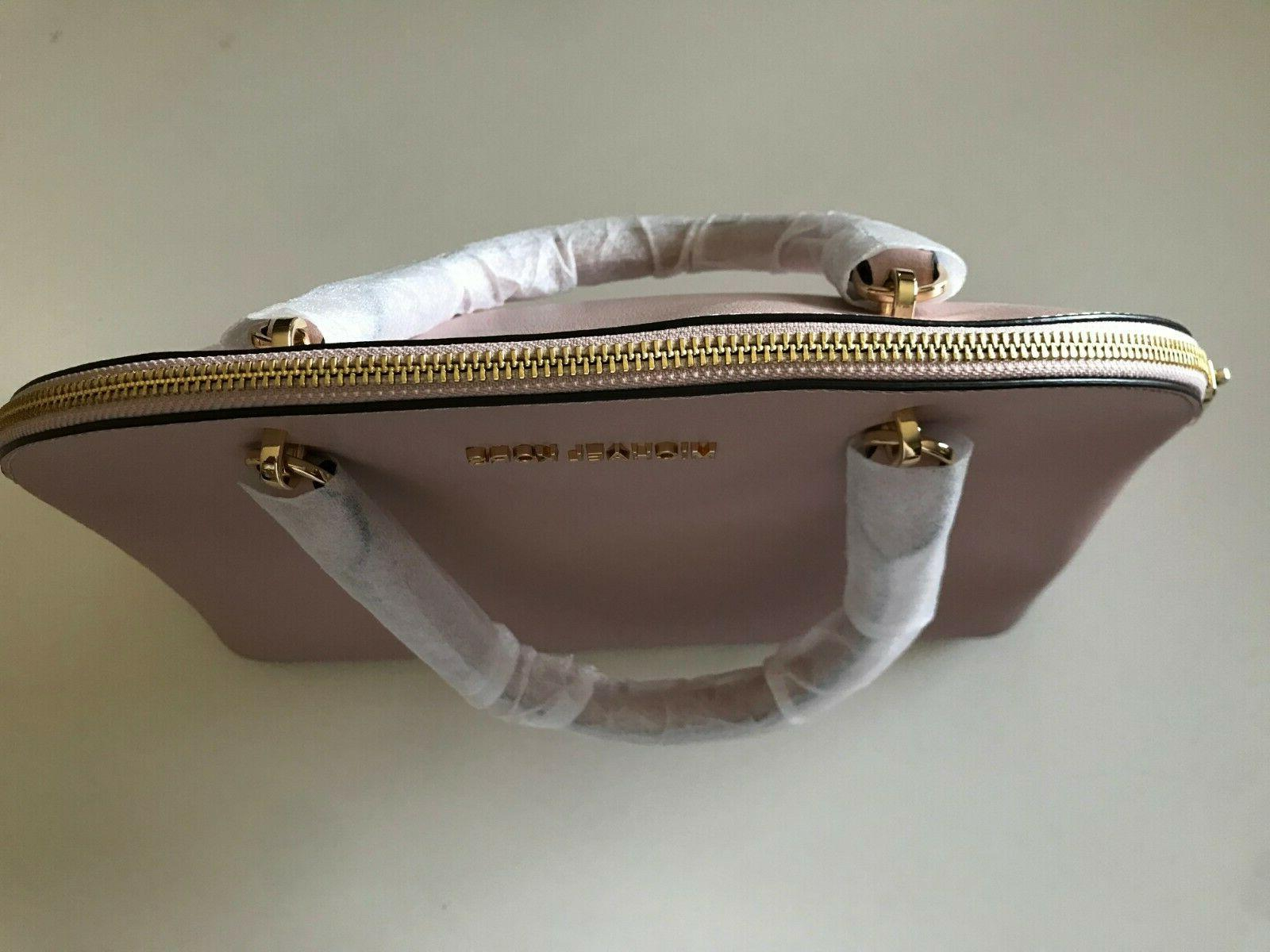 NEW Michael Kors Emmy Dome Leather Satchel BLOSSOM $378