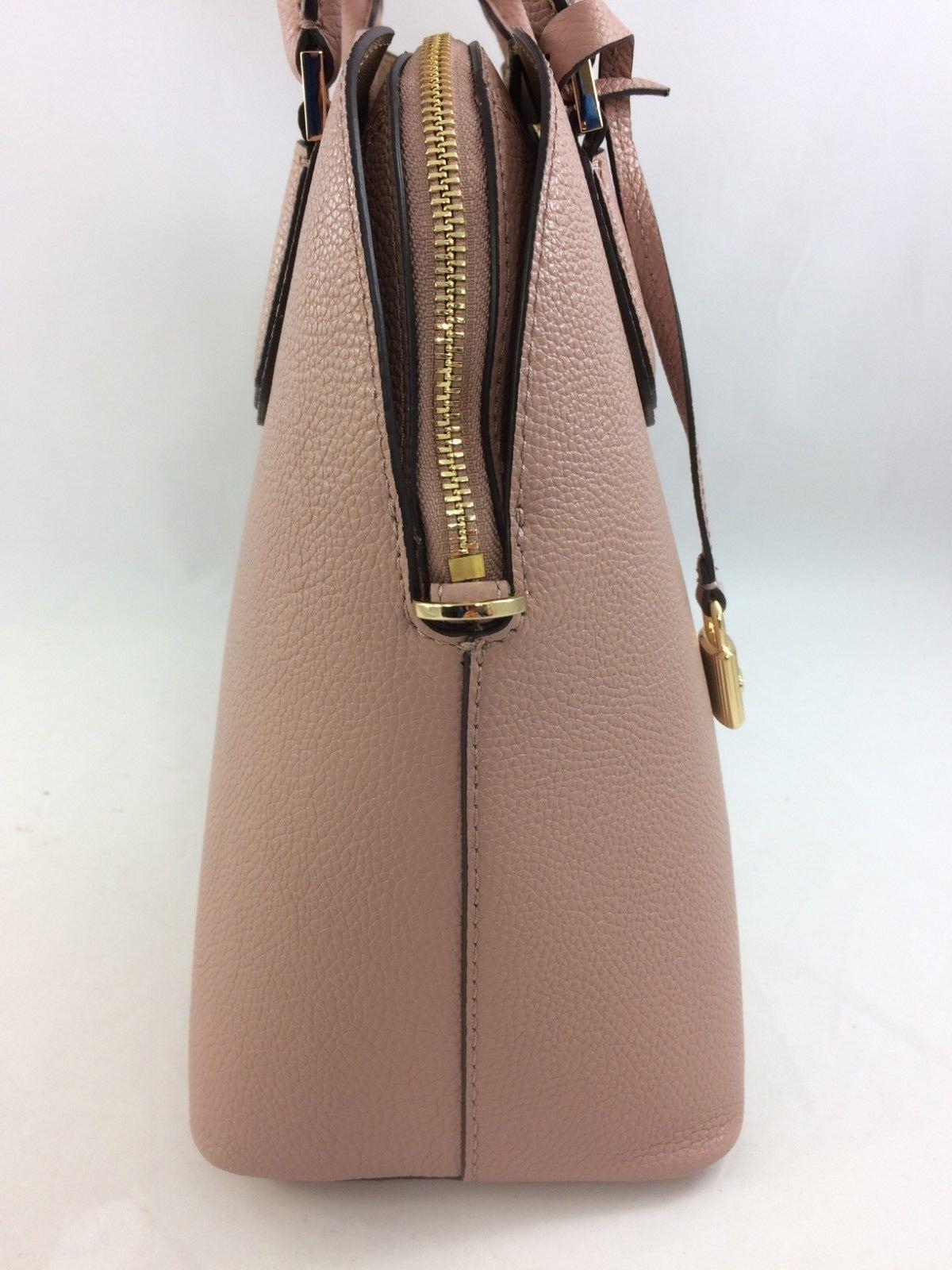 New Authentic Michael Adele Large Dome Satchel Handbag Purse