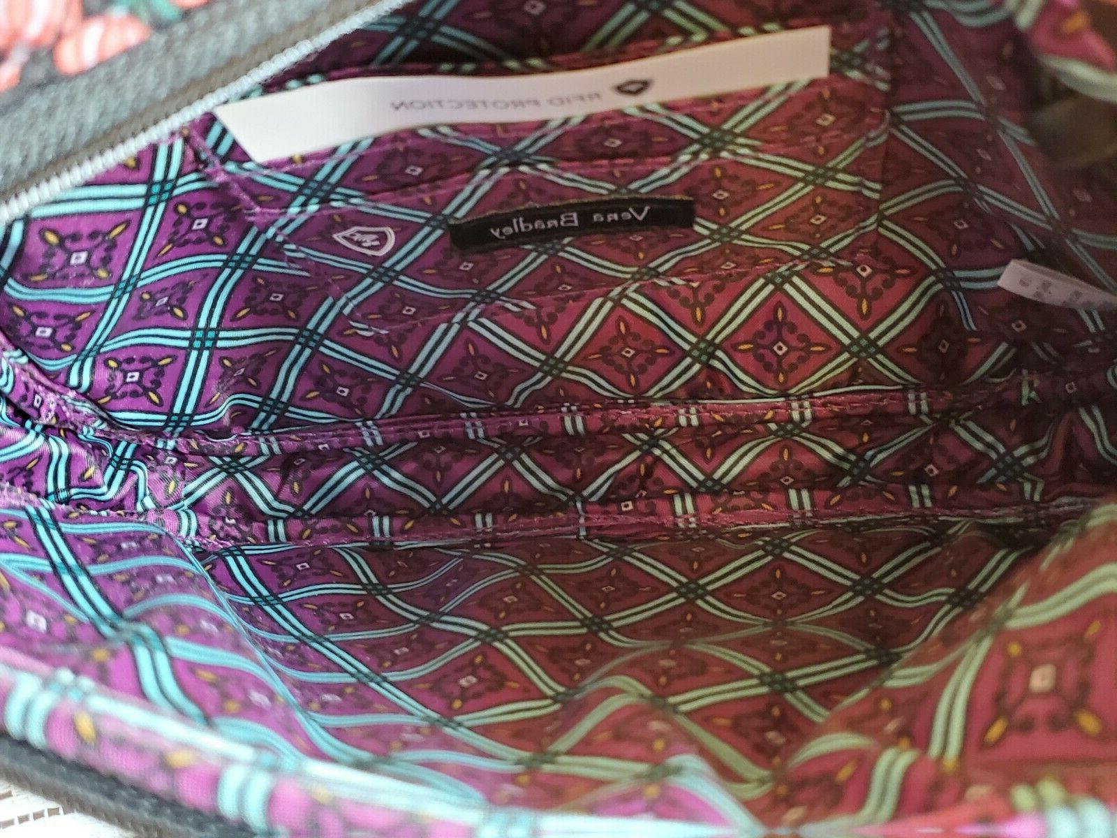 "New VERA BRADLEY RFID CROSSBODY bag in "" Floral """