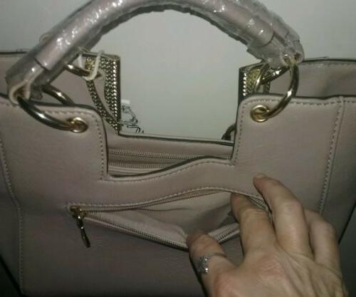 Beige Leather Lead Free Bag Purse