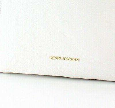 Michael Kors White Gold Remy Shoulder Purse #045