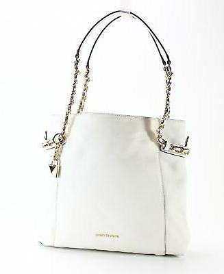 new optic white gold remy leather shoulder