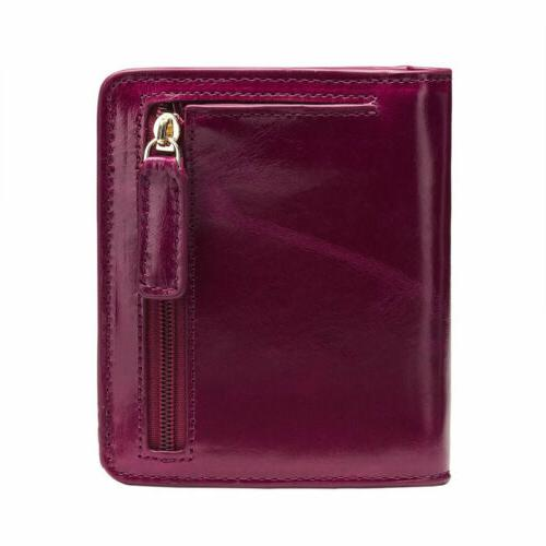 New Real Lady Mini Short Cowhide Bifold Purse