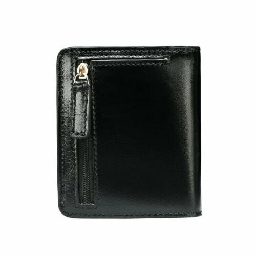 new real leather lady mini wallet short