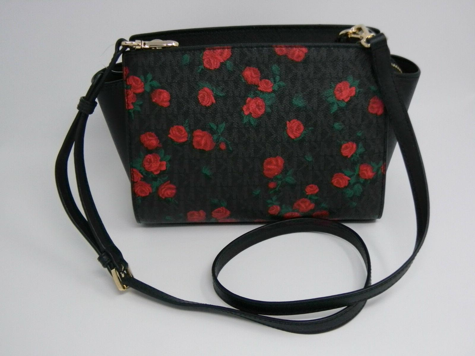 New Kors Black Signature Red Floral