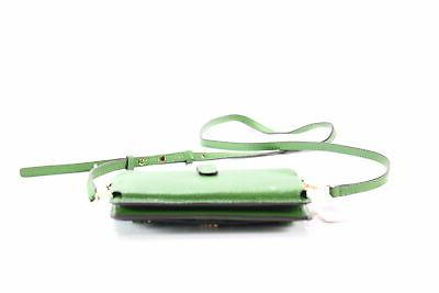 Michael NEW Green Phone Crossbody Leather $148- #075
