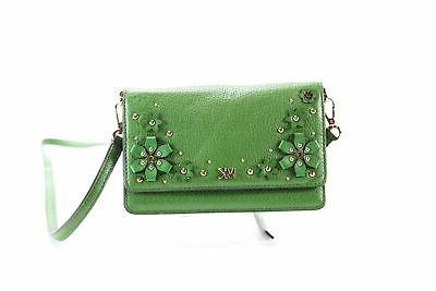 new true green gold phone floral crossbody