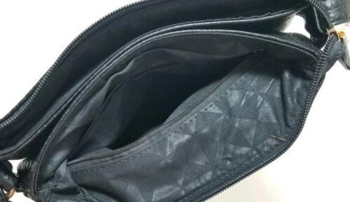 New Safe Black Gold Accents Bag Purse
