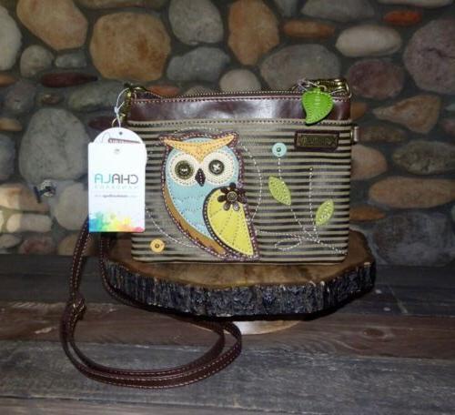 new with tags owl mini crossbody purse