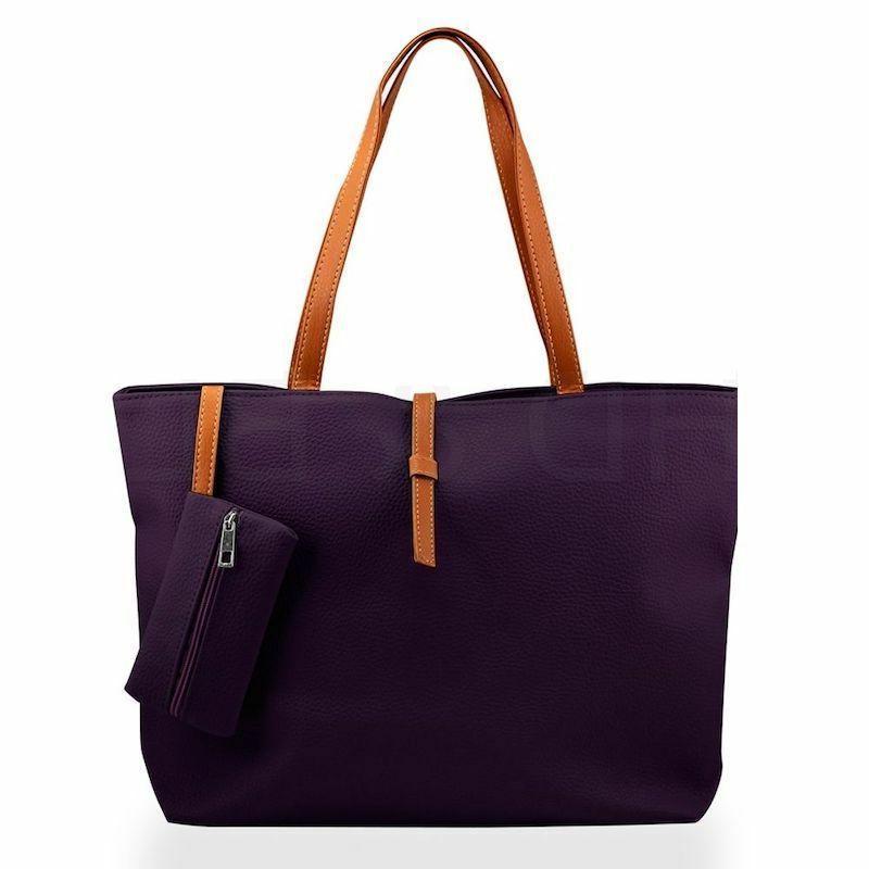 New Womens Faux Fashion Handbag Lady Shoulder Bag Totes