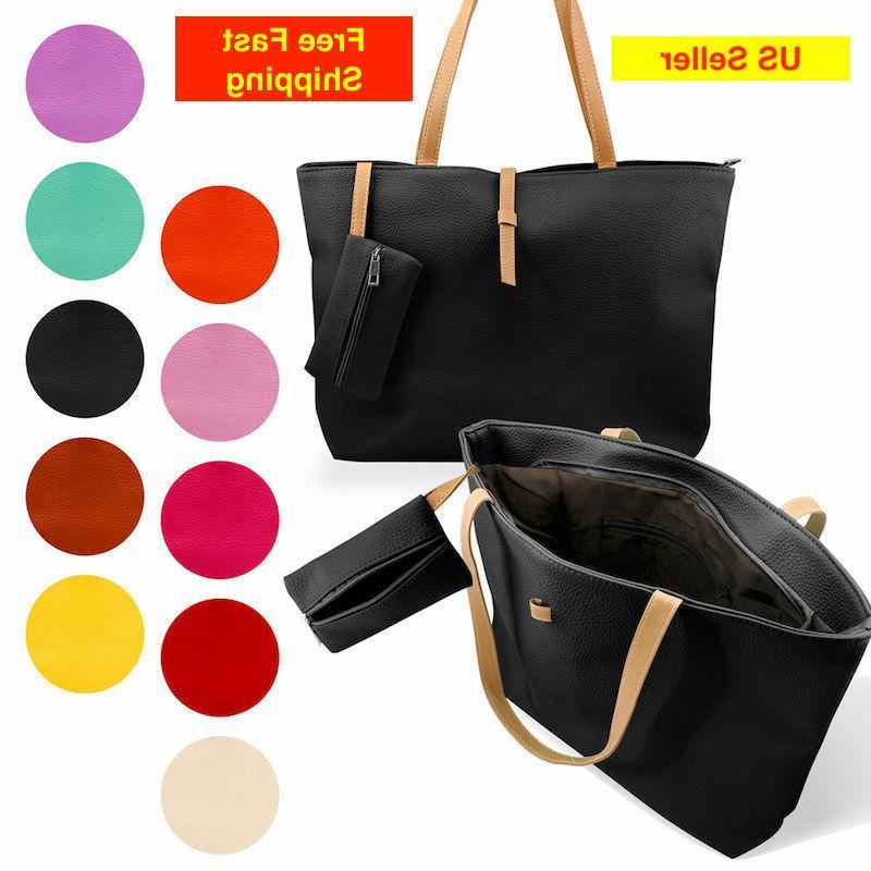 new womens faux leather messenger handbag lady