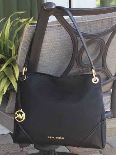 nicole medium shoulder tote bag purse black