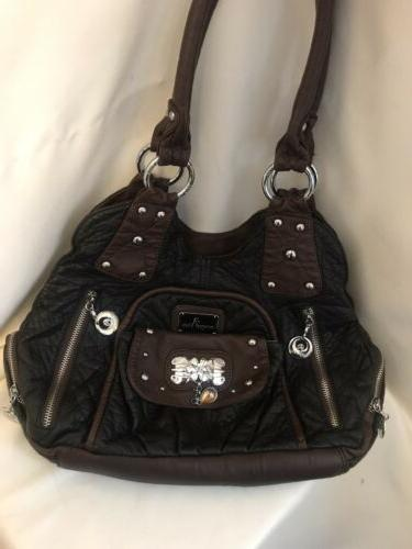 nwot multi compartments slouch shoulder tote purse