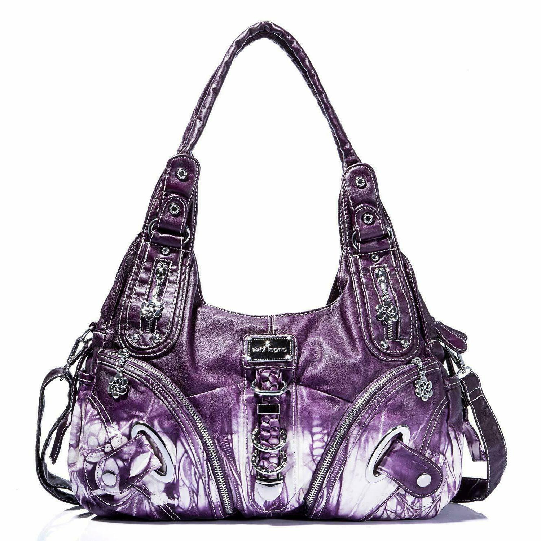 nwot purple tie dye shoulder bag purse