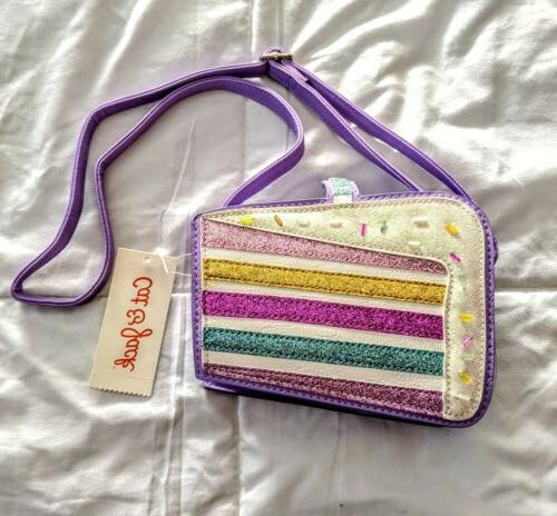 nwt crossbody glitter bling purple pink purse