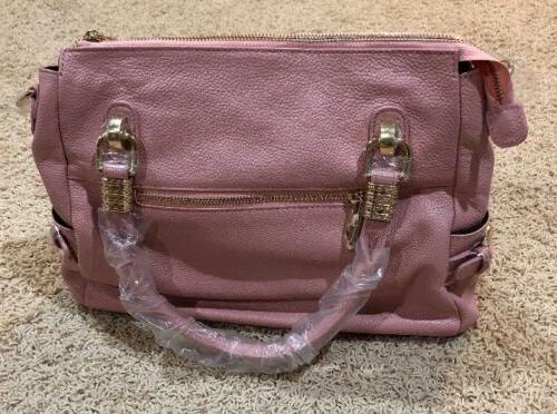 NWT Ainimoer Pale Pink 100% Genuine Shoulder Bag