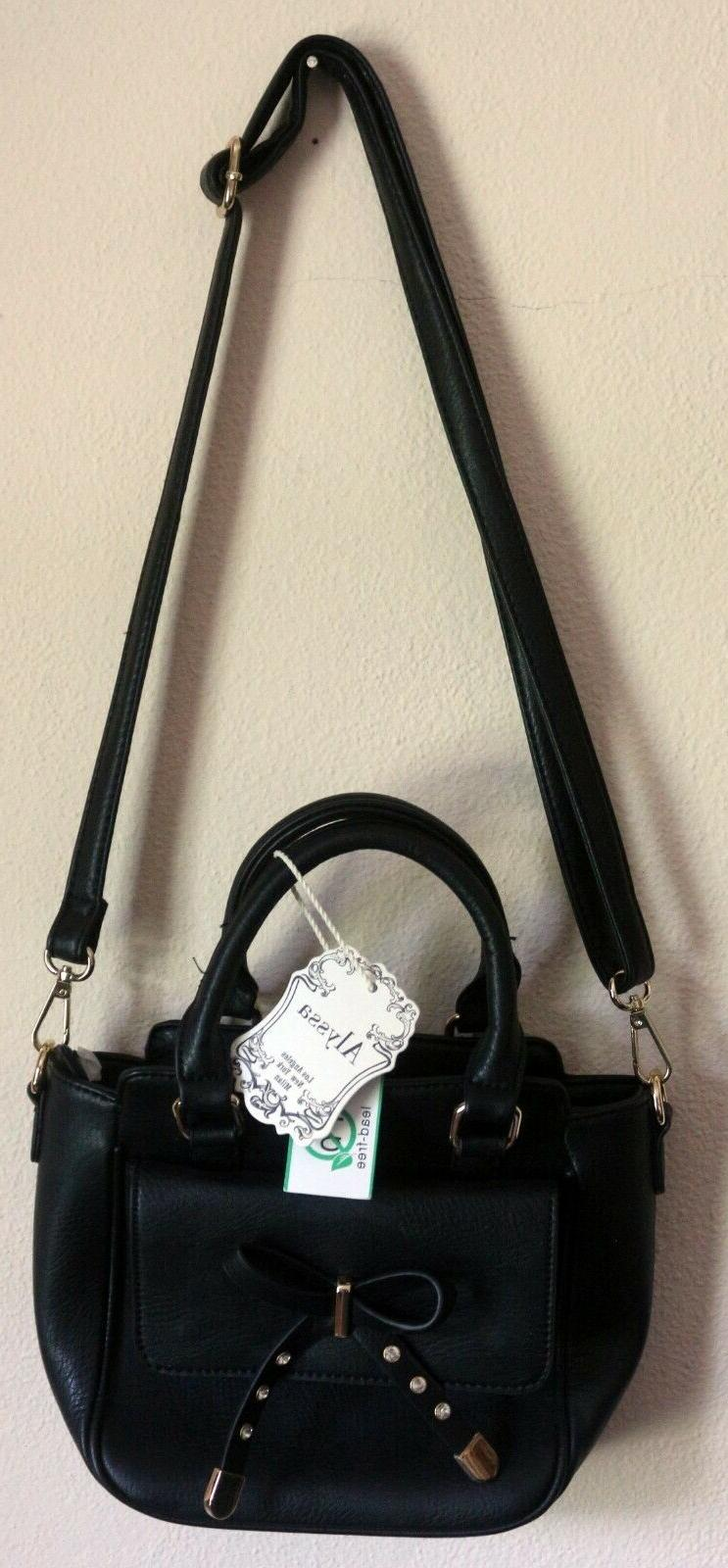nwt vegan lead free faux leather black