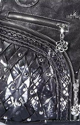NWT Angel kiss Purse & Handbag Lether LRG Shoulder Bag BLACK/WHITE