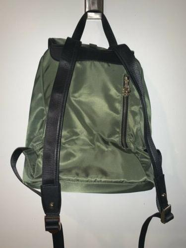NWT Bostanten Light Weight Backpack Purse Green Nylon