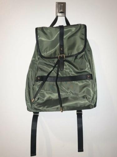 nwt womens light weight backpack purse olive