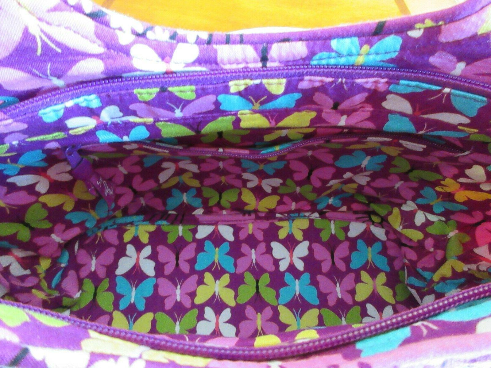 Vera Bradley Pleated Bag Flutterby