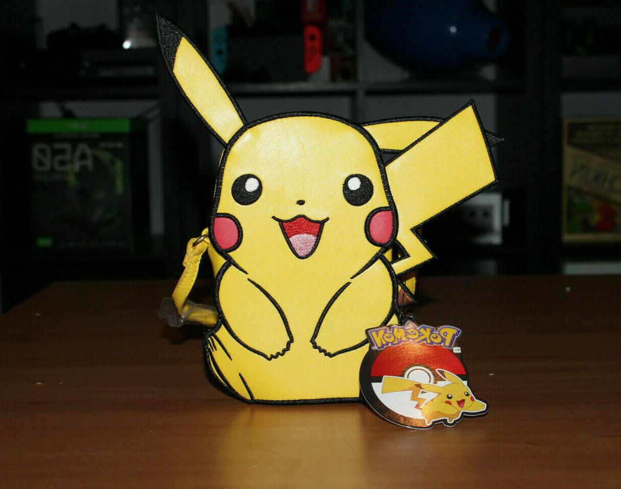 pokemon pikachu faux leather crossbody purse