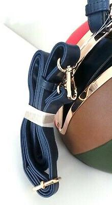 Alyssa Blue ROUND Framed Bag